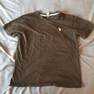 Black v-neck US Polo assn shirt